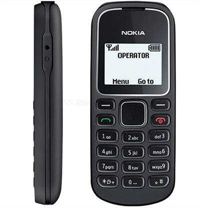 Nokia 1202 sở hữu kiểu dáng ấn tượng với thiết kế nhỏ gọn, bo tròn 4 góc